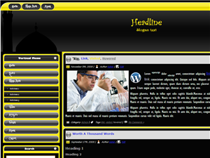 Black Whtie and Yellow Theme WordPress Theme, selengkapnya : https://tausyah.wordpress.com/download/islamic-wordpress-themes/