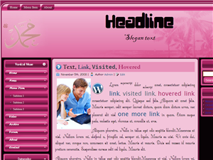 Pink Islamic Wordpress Theme