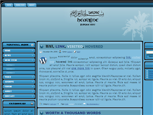 Bismillah Blue Wordpress Theme