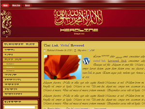 Lailaha Illallah In Red & Gold Wordpress template