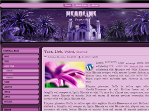 Purple Islamic Wordpress template