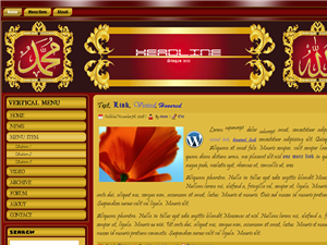 Red & Gold islamic Wordpress Template