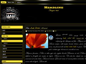 Yellow & Black Islamic Wordpress Template