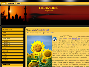 Maghrib Time Islamic Wordpress Template