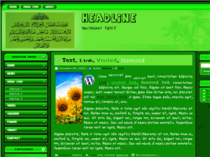 Al-Fatihah Green Wp Theme
